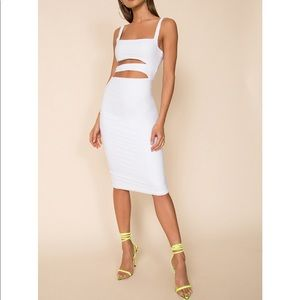 New superdown Winona midi white dress